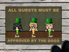 Personalized Doormat & St Patrick's Day - gift for dog lovers - 3 Dogs - All Guests Must Be Approved By The Dogs