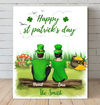 Personalized Canvas, Best Gift For Couple - Couple - St Patrick's Day Canvas - Happy St Patrick's Day