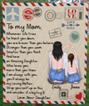 Personalized Mother's Day gift from daughter to mom - Mom & Daughter personalized hand written blanket - Meaningful messages for mother's day