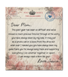 Personalized Handwritten Letter Blanket - Dear Mom Love Mom,  Letter Quilt Blanket Personalized Mother's day gift from son/daughter to mom