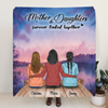 Custom Personalized Mother and Daughter Quilt Blanket - Mother And 2 Daughters - Gift For Mother's Day - Mother & Daughters Forever Linked Together - RDBLQY