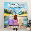 Custom Personalized Mother and Daughter Quilt Blanket - Mother, 1 Daughter, 1 Pet - Gift For Mother's Day - Mother And Daughter Forever Linked Together - RDBLQY