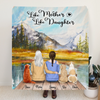 Custom Personalized Mother and Daughter Quilt Blanket - Mother, 1 Daughter, 3 Pets - Gift For Mother's Day - Like Mother Like Daughter - RDBLQY