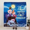 Custom Fleece Blanket, Personalized Mother's Day Gift From Daughter To Mom - Mother and Daughter Mermaid - Best Gift For Daughter - Like Mother like Daughter - EA0D9R