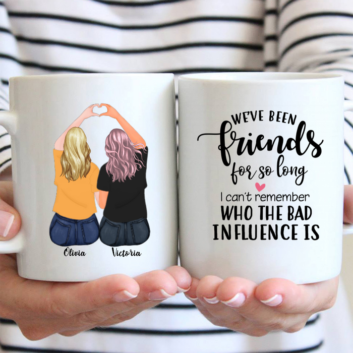 Personalized Coffee Mug Gift Idea For Best Friend - 2 Besties Coffee Mug - We've been friends for so long