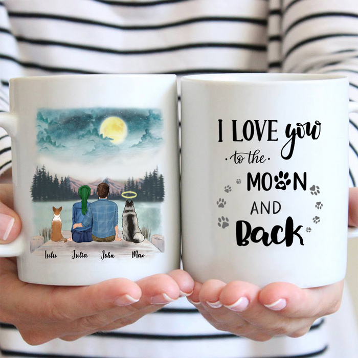 Couple With 2 Dogs - Personalized Mug