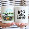 Man And Man - Personalized Camping Mug, Let's Go Camping
