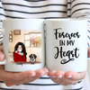 Personalized Mother's Day Gift For Dog Mom - Mom With 1 Dog Coffee Mug - Up To 3 Dogs - Forever In My Heart