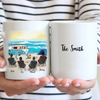 Personalized camping coffee mug, gift idea for the whole family - 4 Adults Beach Camping Mug - Camping Partners For Life