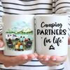 Personalized camping coffee mug gift idea for the whole family, camping lovers - Parents & 4 kids - Father's day gift - Mother's day gift from husband to wife