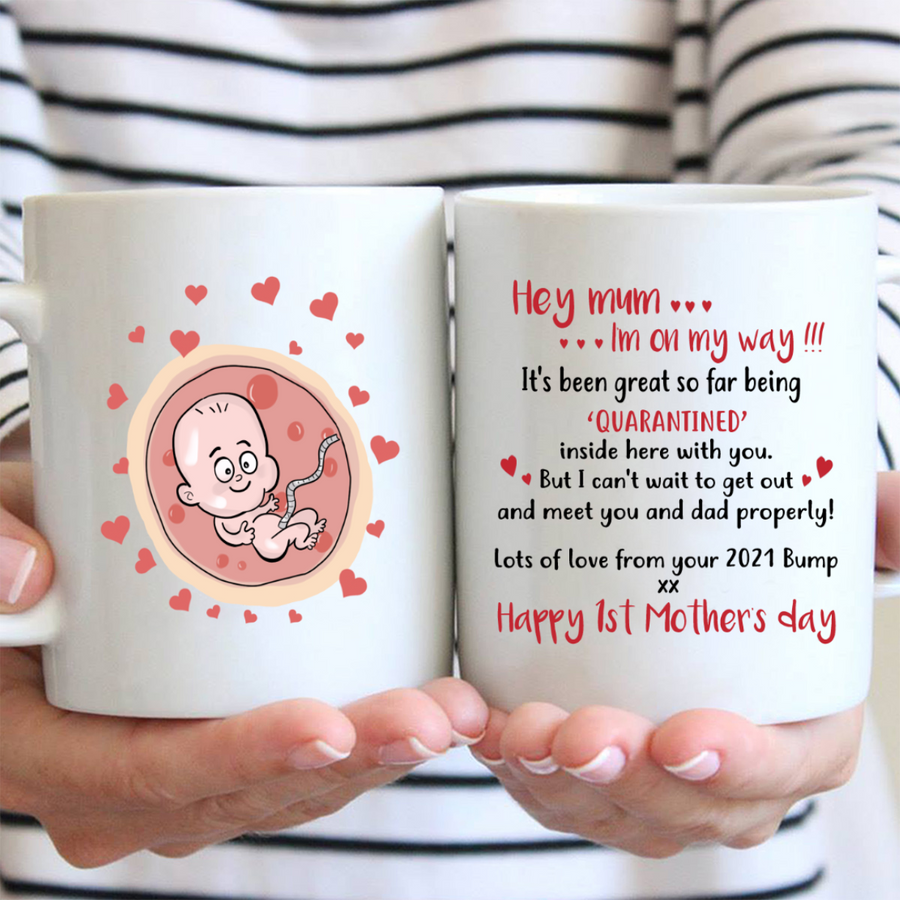 Personalized Mother's Day Gift for mom-to-be/expecting/pregnant/first mom - Mother's Day Gift for Pregnant Mom - Lots Of Love From Your 2021 Bump - Happy 1st Mother's Day