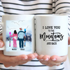 Personalized Coffee Mug Best Gift For Couple, Skiers - Valentines day gifts for him her boyfriend girlfriend - Skiing Couple Mug - I love you to the mountains and back
