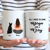 Personalized Mother's Day Gift For Dog Mom - Mom With 1 Dog Yoga personalized coffee mug - All I need is love yoga and a dog