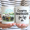 Personalized Gift For Same Sex Couple - Personalized Camping Mug - 3 Man - Camping  Partners For Life