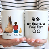Girl With Horse And Cat - Personalized Mug