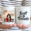 Personalized Mother's Day Gift For Dog Mom - Mom With 3 Dogs Coffee Mug - Best Friends