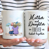 Personalized Mother's Day Gift From Daughter To Mom - Mom and 1 Daughter Coffee Mug - Mother and Daughter Forever Linked Together - Meaningful Mother's Day Gift