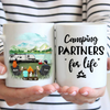 Personalized camping coffee mug, gift idea for the whole family - Parents with 1 kid & 2 pets - Father's day gift - Mother's day gift from husband to wife