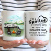 Personalized Camping Coffee Mug, Gifts for Couple - Camping Couple Mug - I'm a spoiled camping lady It's my husband fault because he treats me like a Queen