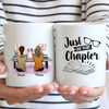 Personalized Reading Book Coffee Mug - 2 Girls Mug, Full Option - Just one more chapter