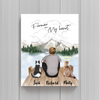 Cat Dad Personalized Poster - Forever In My Heart