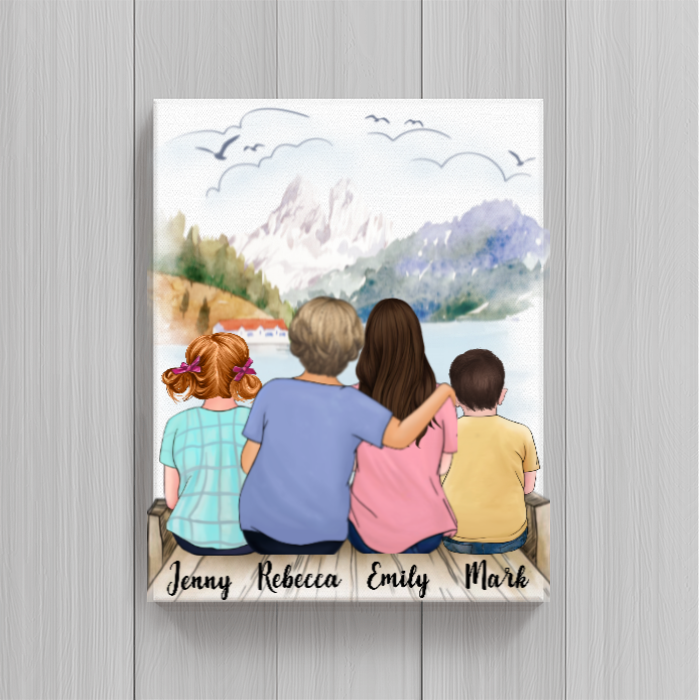 Personalized Poster Gift idea for Mom - Mom with Daughter and Kids Poster - Home is where my mama is