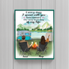 Personalized Poster gift for couple, camping lovers - Valentines day gift for him her boyfriend girlfriend  - Couple with drinks camping poster