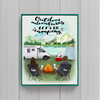 Personalized Poster gift for couple, camping lovers - Valentines day gift for him her boyfriend girlfriend  - Couple camping poster - Let's go camping