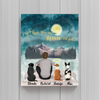 Dog Dad Personalized Poster -  I Love You To The Moon And Back