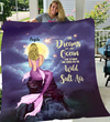 Mermaid  Girl Personalized Fleece Blanket - She Dream of an Ocean