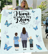 Mother And 2 Sons - Personalized Fleece Blanket