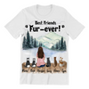 Cat Mom With 5 Cats - Personalized T-Shirt
