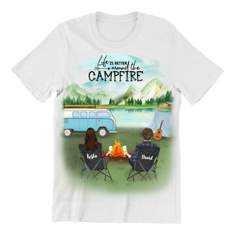 Man & Woman - Personalized Camping T-Shirt