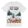 Dog Mom With 5 Dogs - Personalized T-Shirt