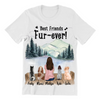 Dog Mom With 4 Dogs - Personalized T-Shirt