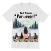 Cat Mom With 4 Cats - Personalized T-Shirt