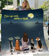 Dog Mom - Moonlight On The Sea - Personalized Fleece Blanket