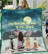 Dog Mom With 3 Dogs - Personalized Moonlight Quilt Blanket