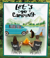 Man, Woman And 1 Dog - Personalized Camping Quilt Blanket - V3