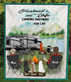 Personalized camping quilt gift idea for the whole family, cat dog lovers - Parents with kids & pets - Full option - Father's day gift - Mother's Day gift from husband to wife