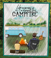 Personalized Blanket Gift Idea For Dad, Single Dad - Dad & 1 Kid Camping Quilt Blanket - Life is better around the campfire