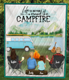 Family With 1 Teen and 1 Kid - Personalized Camping Quilt Blanket - V5, Life is around the campfire