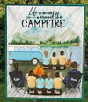 Family With 7  Kids  - Personalized Camping Blanket - V5, Life is better around the campfire