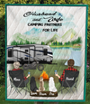 Personalized cat dog & owners camping blanket gift idea for the whole family, cat dog lovers - 3 Pets & Couple Camping Quilt - Full Camper Option