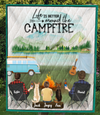 Man And Man With 1 Kid & 2 Dogs - Personalized Camping Blanket - V5.2, Life is better around the campfire