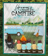 Personalized Mother's Day Gift For Single Mom - Mom with 5 Kids camping quilt - Best mother's day gift ideas - Life is better around the campfire