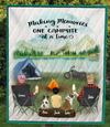 Custom personalized dog & owners camping blanket gift idea for the whole family, dog lovers - Parents, 1 Kid & 2 dogs Camping Blanket - No Camper - tent only version