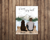 Dog Dad With 1 Dog - Personalized Poster, Forever In My Heart