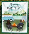 Camping fleece blanket