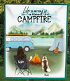 Single Mom And 1 Dog - Personalized Camping Fleece Blanket - V5, Life is better around the campfire